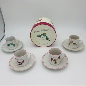 Shoes and a Martini Espresso Cups & Saucers (4)